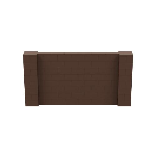 8' x 4' Brown Simple Block Wall Kit