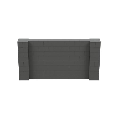 8' x 4' Dark Gray Simple Block Wall Kit