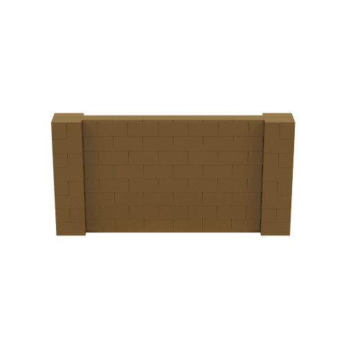 8' x 4' Gold Simple Block Wall Kit