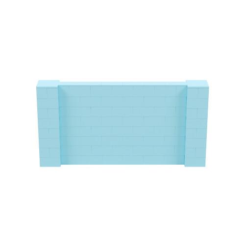 8' x 4' Light Blue Simple Block Wall Kit