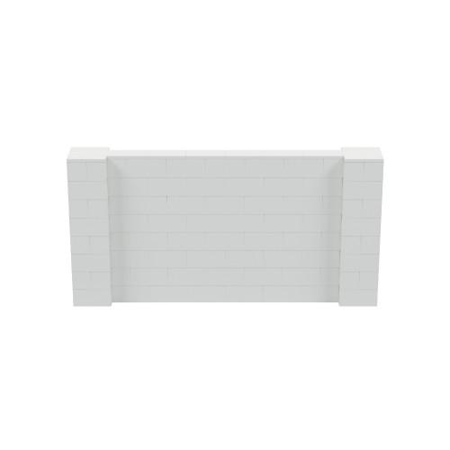 8' x 4' Light Gray Simple Block Wall Kit