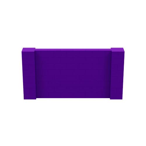 8' x 4' Purple Simple Block Wall Kit