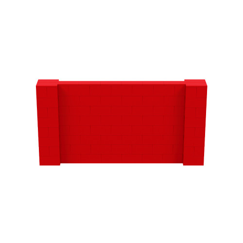 8' x 4' Red Simple Block Wall Kit