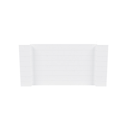 8' x 4' White Simple Block Wall Kit