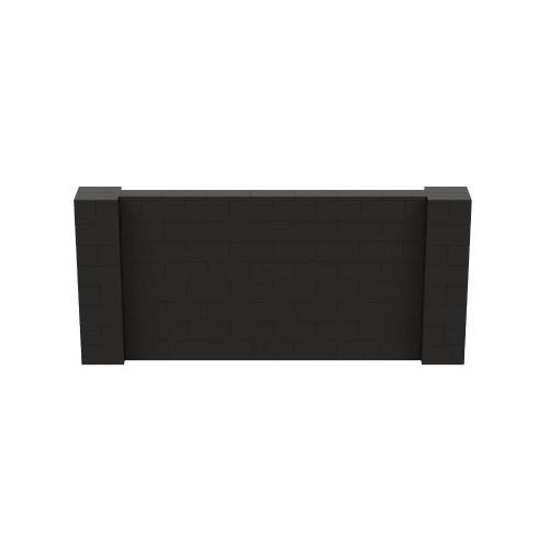 9' x 4' Black Simple Block Wall Kit