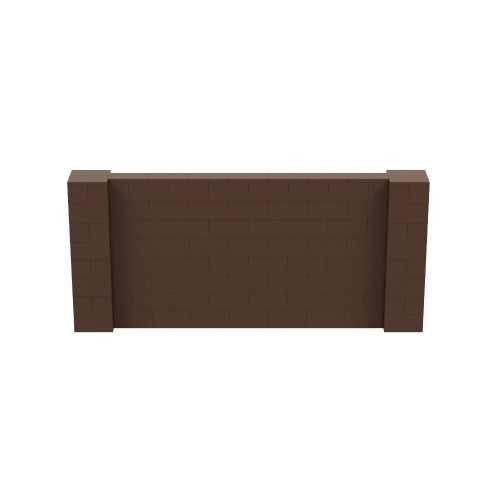9' x 4' Brown Simple Block Wall Kit