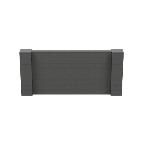 9' x 4' Dark Gray Simple Block Wall Kit