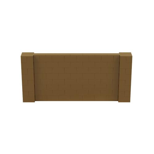 9' x 4' Gold Simple Block Wall Kit