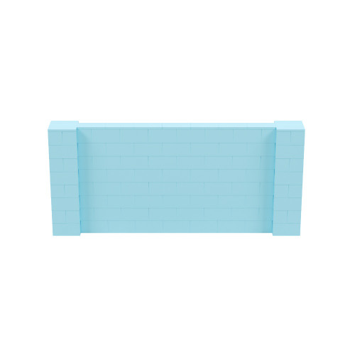 9' x 4' Light Blue Simple Block Wall Kit