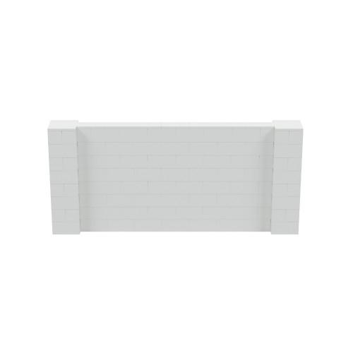 9' x 4' Light Gray Simple Block Wall Kit