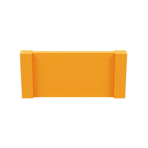 9' x 4' Orange Simple Block Wall Kit