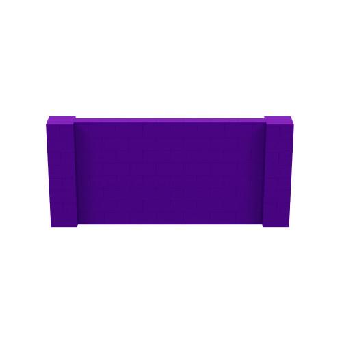 9' x 4' Purple Simple Block Wall Kit