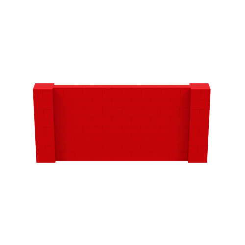 9' x 4' Red Simple Block Wall Kit