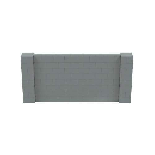 9' x 4' Silver Simple Block Wall Kit