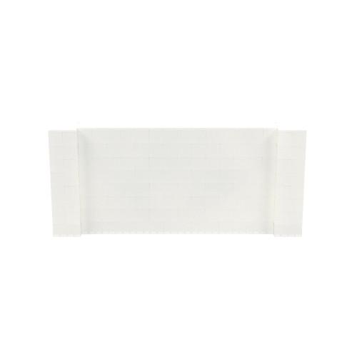9' x 4' Translucent Simple Block Wall Kit
