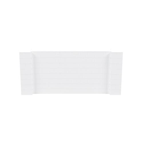 9' x 4' White Simple Block Wall Kit