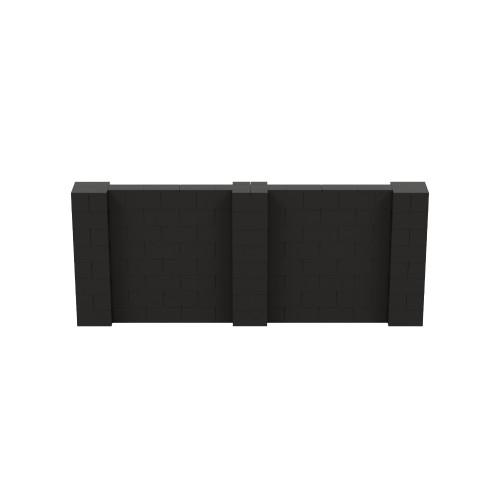 10' x 4' Black Simple Block Wall Kit