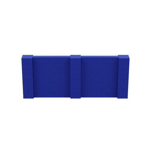 10' x 4' Blue Simple Block Wall Kit