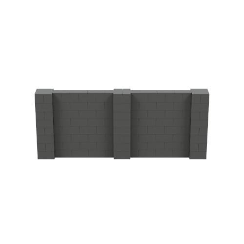 10' x 4' Dark Gray Simple Block Wall Kit
