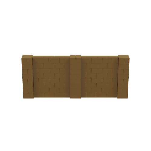 10' x 4' Gold Simple Block Wall Kit