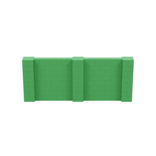 10' x 4' Green Simple Block Wall Kit