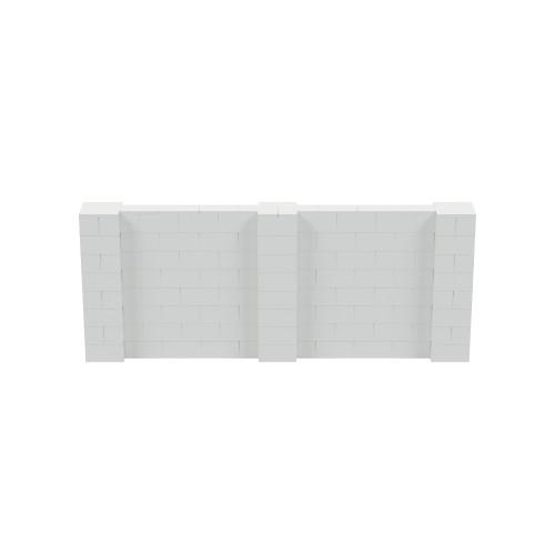10' x 4' Light Gray Simple Block Wall Kit