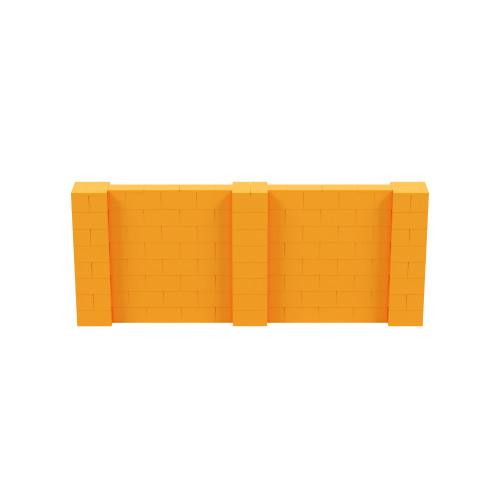 10' x 4' Orange Simple Block Wall Kit