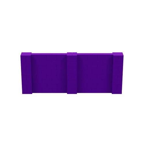 10' x 4' Purple Simple Block Wall Kit