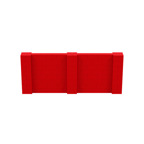 10' x 4' Red Simple Block Wall Kit