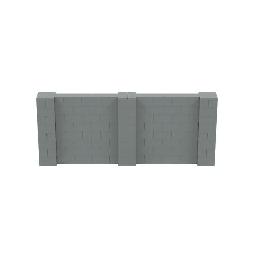10' x 4' Silver Simple Block Wall Kit
