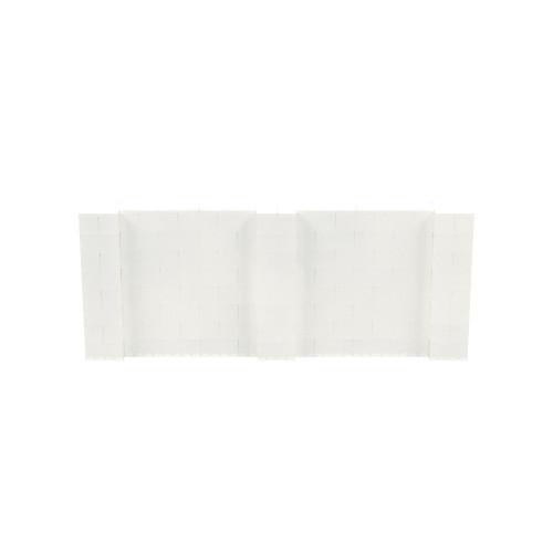 10' x 4' Translucent Simple Block Wall Kit