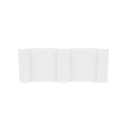 10' x 4' White Simple Block Wall Kit