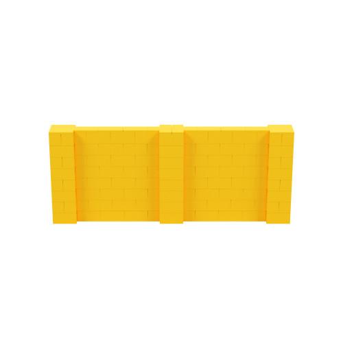 10' x 4' Yellow Simple Block Wall Kit