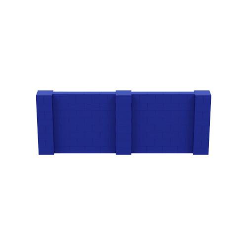 11' x 4' Blue Simple Block Wall Kit
