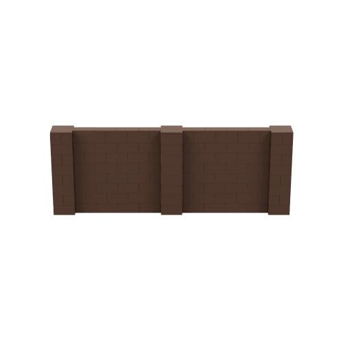 11' x 4' Brown Simple Block Wall Kit