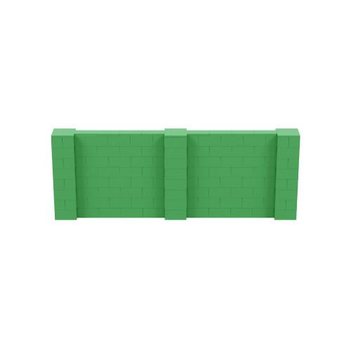 11' x 4' Green Simple Block Wall Kit