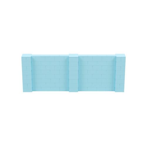 11' x 4' Light Blue Simple Block Wall Kit