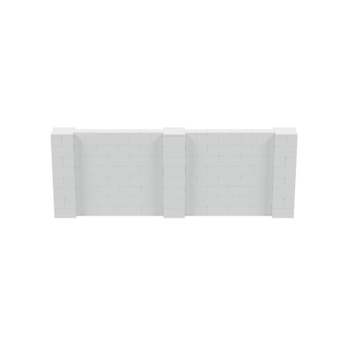 11' x 4' Light Gray Simple Block Wall Kit