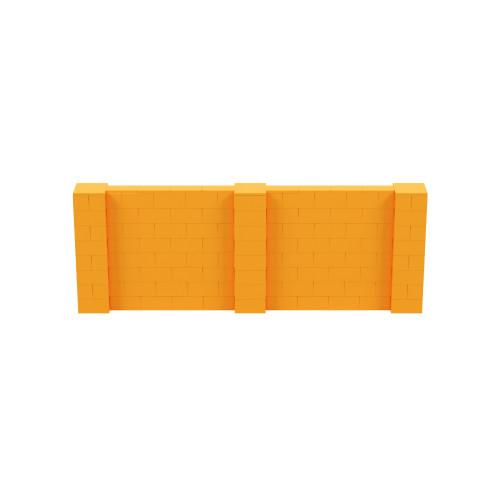 11' x 4' Orange Simple Block Wall Kit
