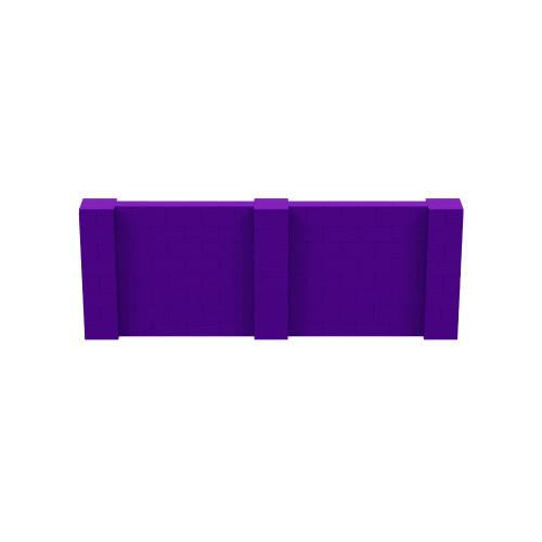 11' x 4' Purple Simple Block Wall Kit