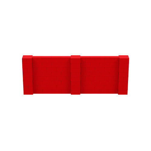 11' x 4' Red Simple Block Wall Kit