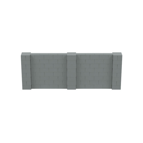 11' x 4' Silver Simple Block Wall Kit