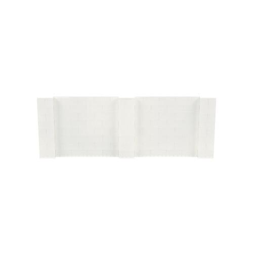 11' x 4' Translucent Simple Block Wall Kit