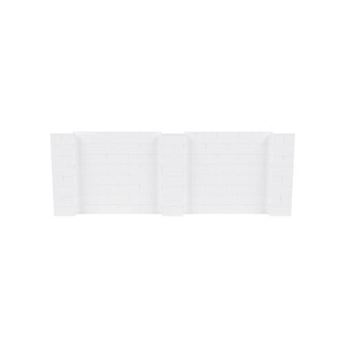 11' x 4' White Simple Block Wall Kit