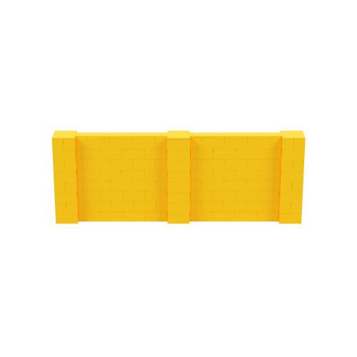11' x 4' Yellow Simple Block Wall Kit
