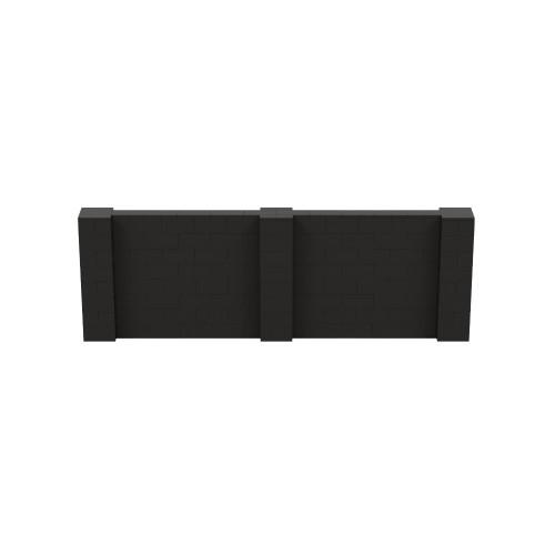 12' x 4' Black Simple Block Wall Kit