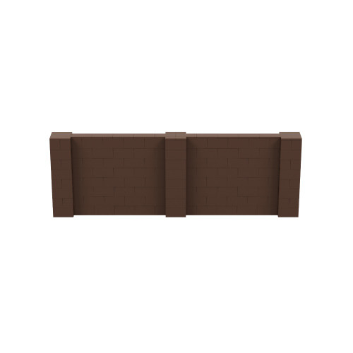 12' x 4' Brown Simple Block Wall Kit