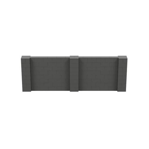 12' x 4' Dark Gray Simple Block Wall Kit