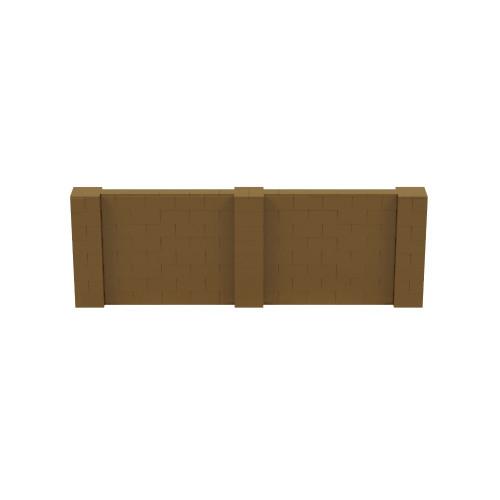 12' x 4' Gold Simple Block Wall Kit