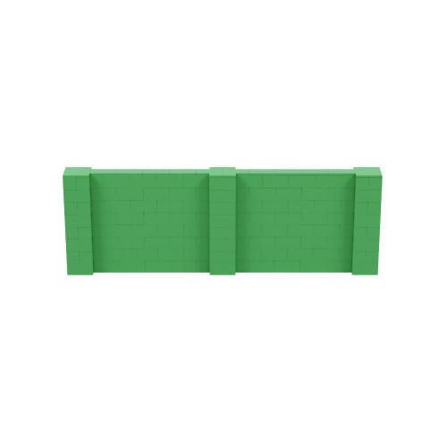 12' x 4' Green Simple Block Wall Kit